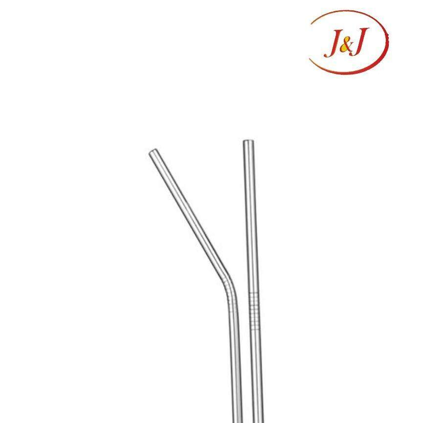 3Pcs Set Stainless Steel Straw With Brushes (Long)
