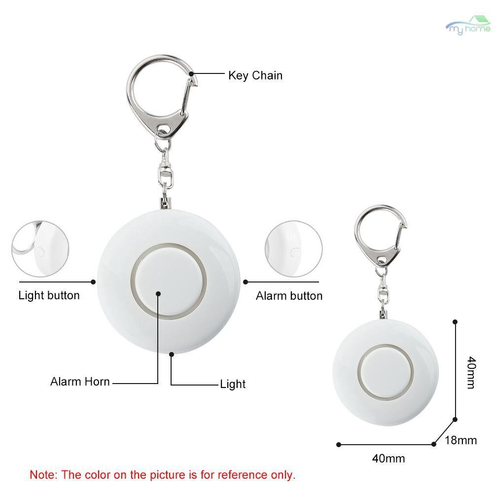 Sensors & Alarms - Self Defense Alarm 130dB SOS Emergency Personal Safety Alarm Keychain Scream Loud with LED - BLACK / WHITE