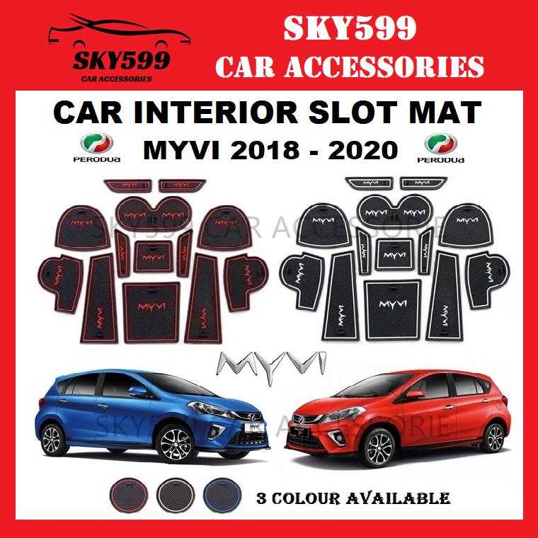 Perodua MYVI 2018-2020 Interior Slot Mat Storage Tank Mat (13pcs/Set)