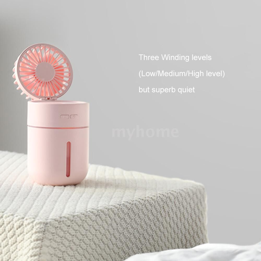 Lighting - DC5V 2W MINI Humidifier Diffuser Fan Mist Spray with Night Light Design Supported Color Changing/ - WHITE / PINK / BLUE