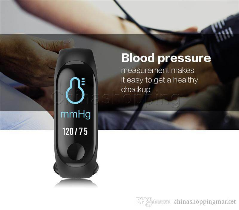 Original M3 Smart Band 3 Fitness Activity Tracker Band Life Waterproof 0.96 Inch OLED Touch Screen Smart Watch