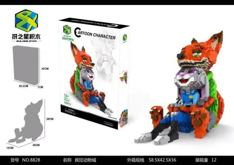 Zootopia Nick and Judy Couple Nanoblock Toys for boys