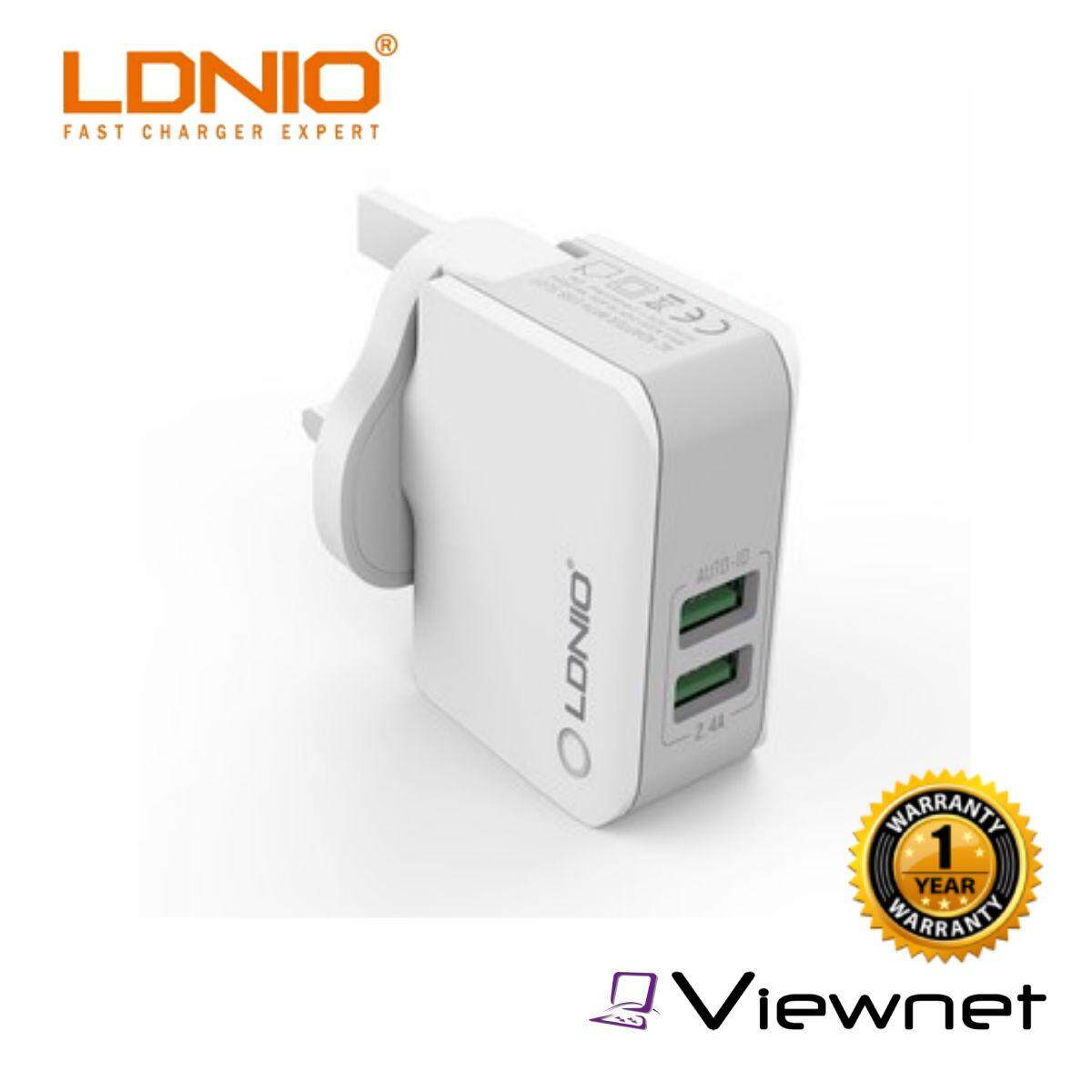 LDNIO 2-USB 2.4A Adapter WIith Micro USB Cable (A2203)
