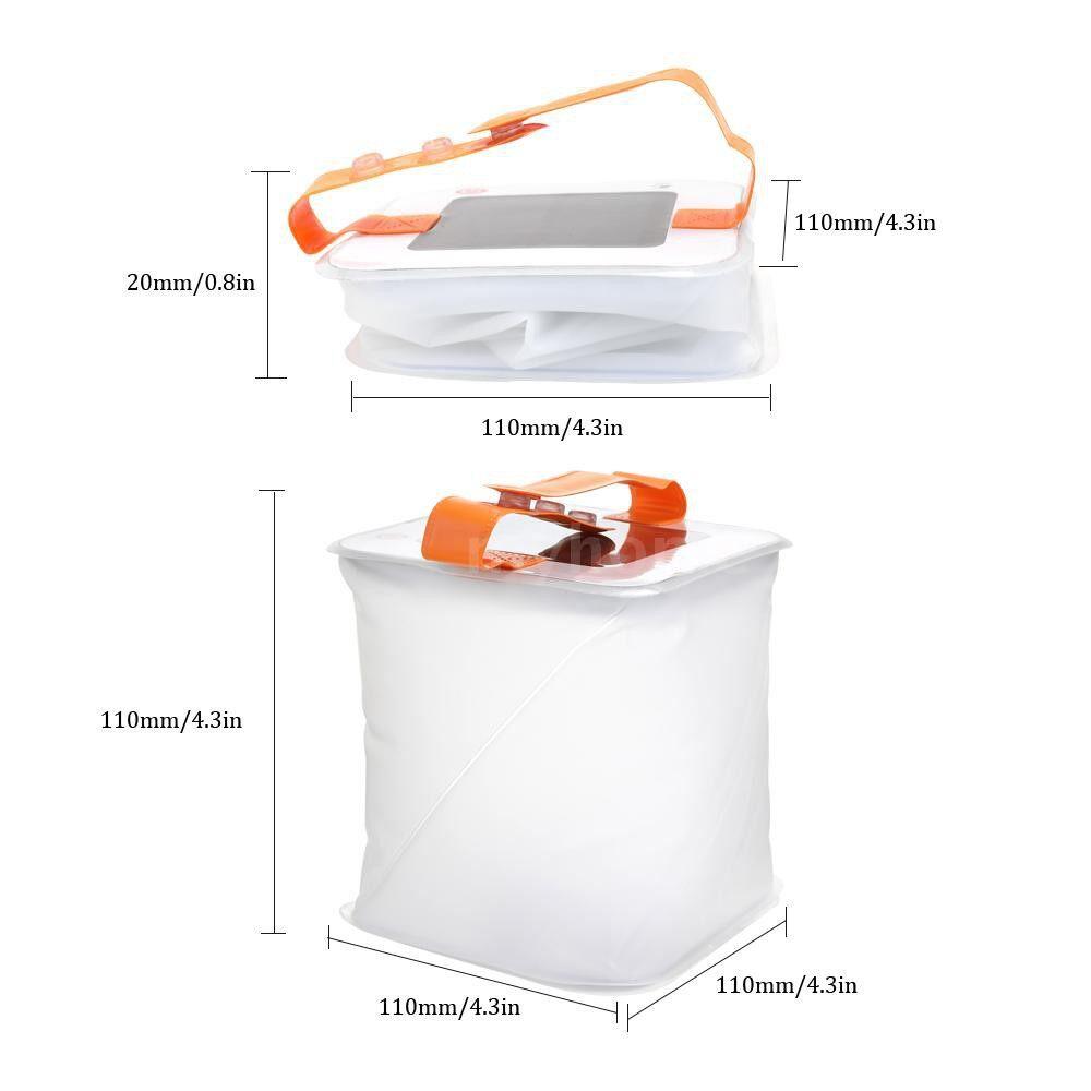 Outdoor Lighting - Inflatable Solar Power Lantern Foldable Telescopic Airbag Lighting Waterproof LED Lamp Outside - MULTICOLOR