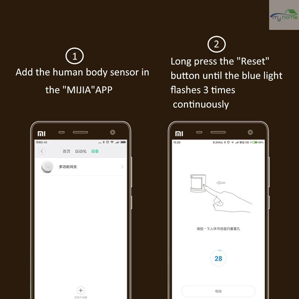 Sensors & Alarms - ORIGINAL Xiaomi Smart Home Aqara Human Body Sensor ZigBee WIRELESS Connection 7m Detection Distance - #