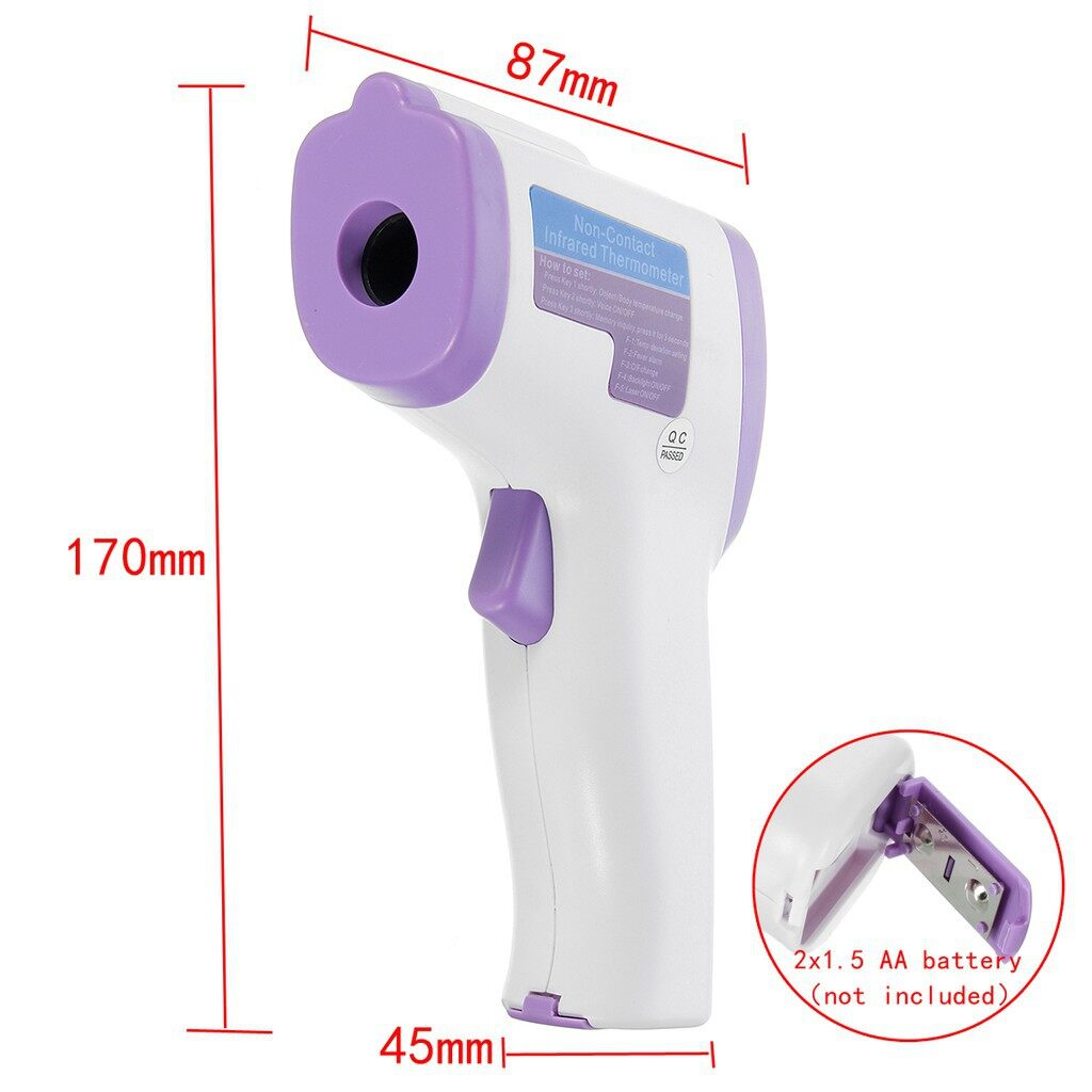 DIY Tools - Non Contact Infrared Digital Gun Laser Thermometer Baby Adult Body Forehead - Home Improvement