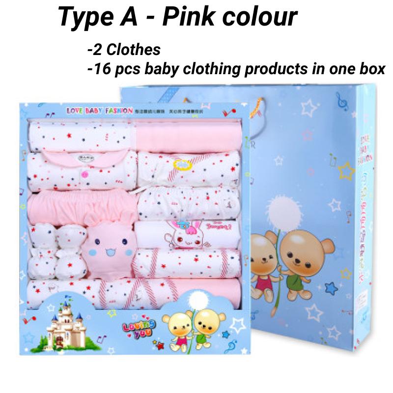 [Gift set] Baju Baby Newborn Clothing Newborn Pyjamas Baby Sleepsuit Long Sleeve wear Gift 20pcs in 1 set baby