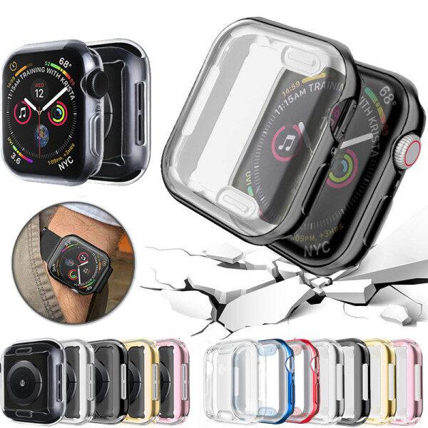 Vỏ Bảo Vệ Đồng Hồ Mới 360 Mỏng Nhiều Màu Cho Apple Watch Series 6 5 4 3 2 1 42MM 38MM 5 Mm Chất Liệu TPU Mềm Trong Suốt 44MM 40MM Cho Apple Watch