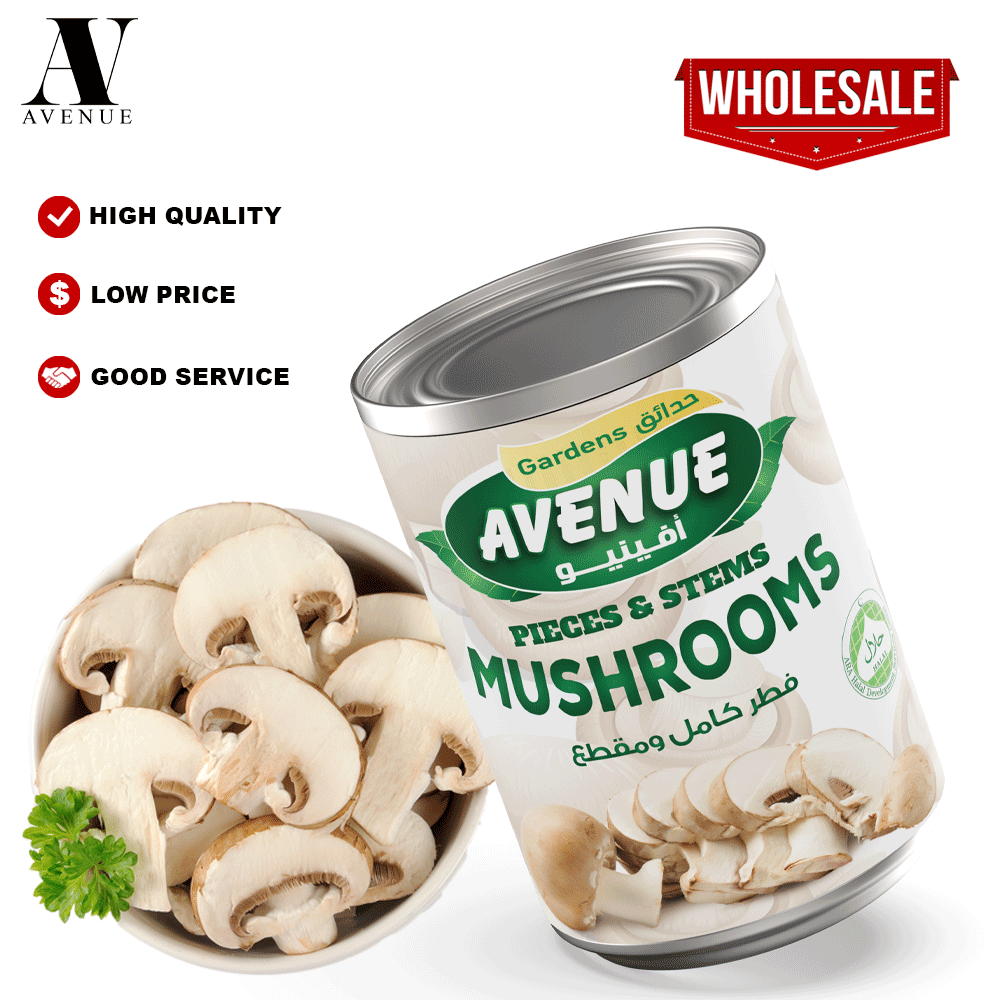 Avenue Gardens Canned Mushroom Pieces & Stems مشروم أفينيو