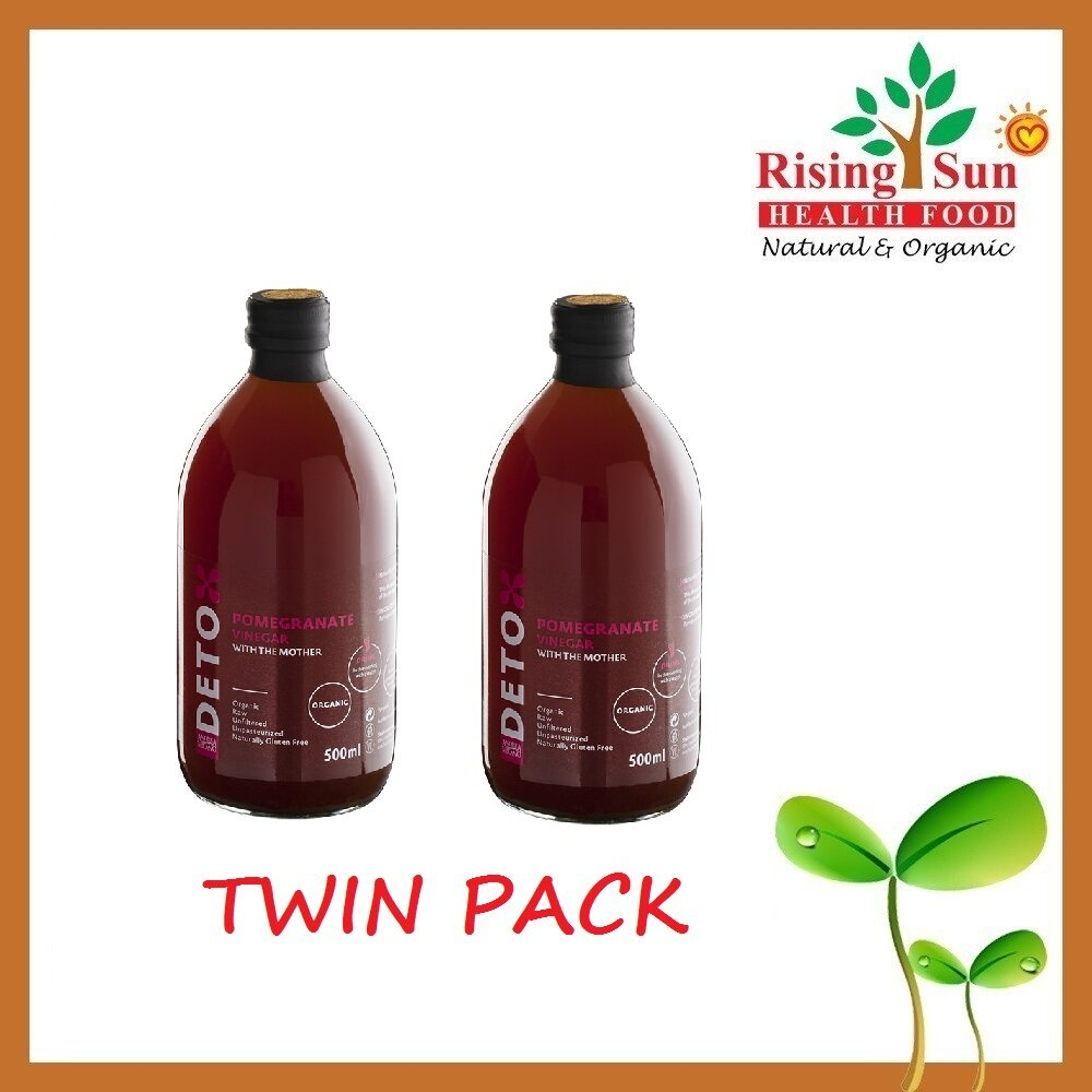 Deto Andrea Milano Pomegranate Vinegar With The Mother 500ML x2 - TWIN PACK