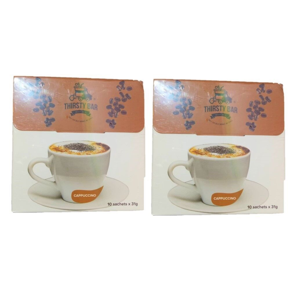 Buy 1 Free 1 !! Thirsty Bar - Chia Seed Cappuccino ( 10 Sachets x 31g ) Exp Date: Jan 2020