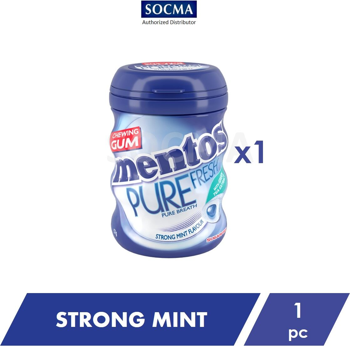 Mentos Pure Fresh French Bottle Strong Mint 57G [1]