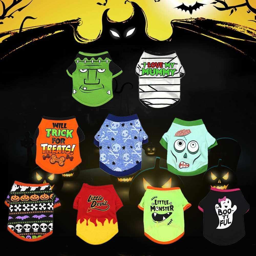 Dog Halloween Shirt Pet T Shirt Little Devil Pet Clothes Pet Halloween Clothes Halloween Costume Dog Shirts (L)