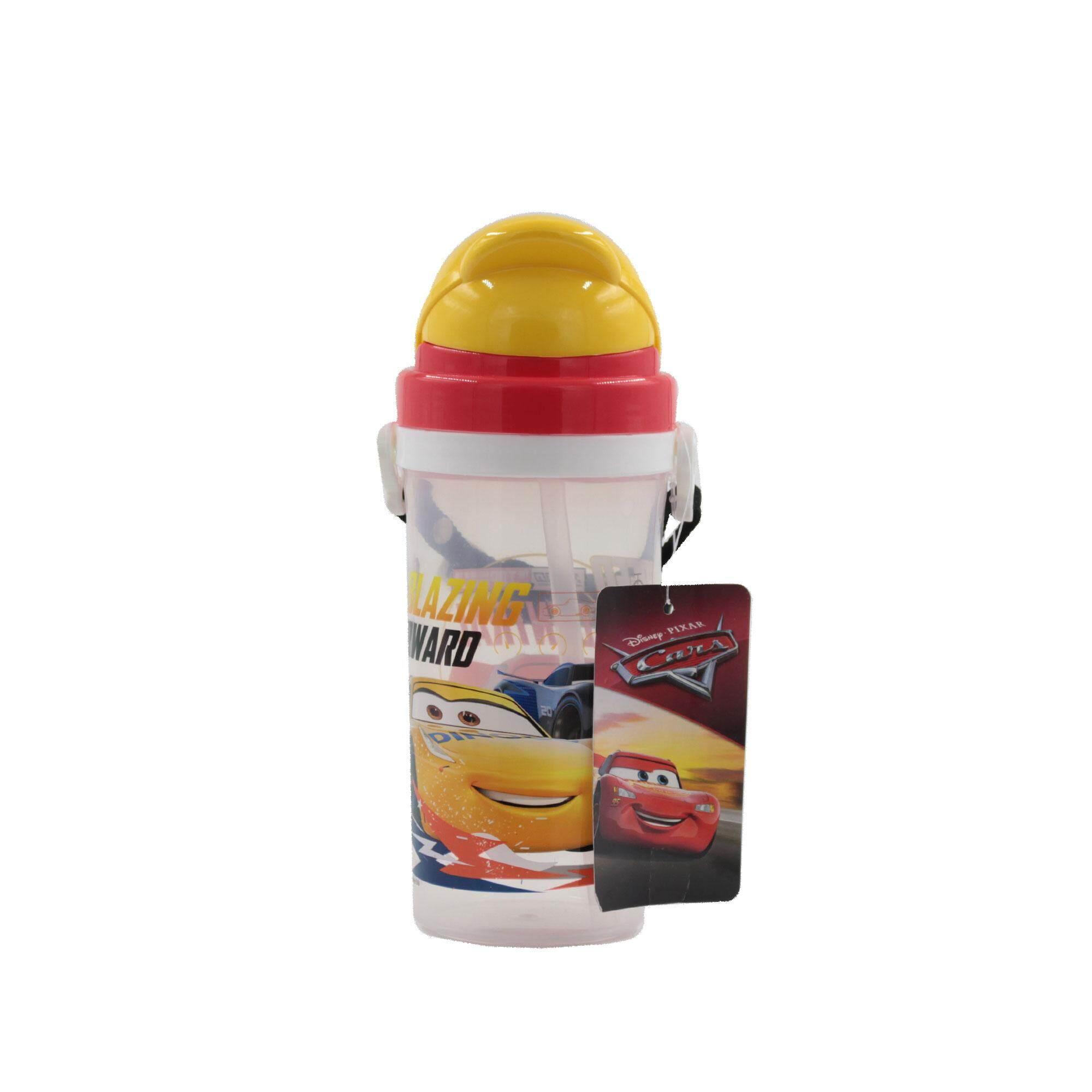 Disney Cars! BPA Free Kids Water Bottle 500 ML with Pop-Up Straw