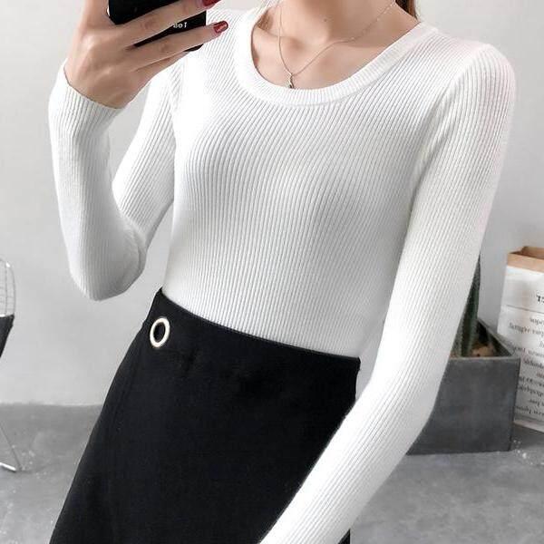 JYS Fashion Korean Style Women Knit Top Collection 526-6574col525a-6574--White - One size