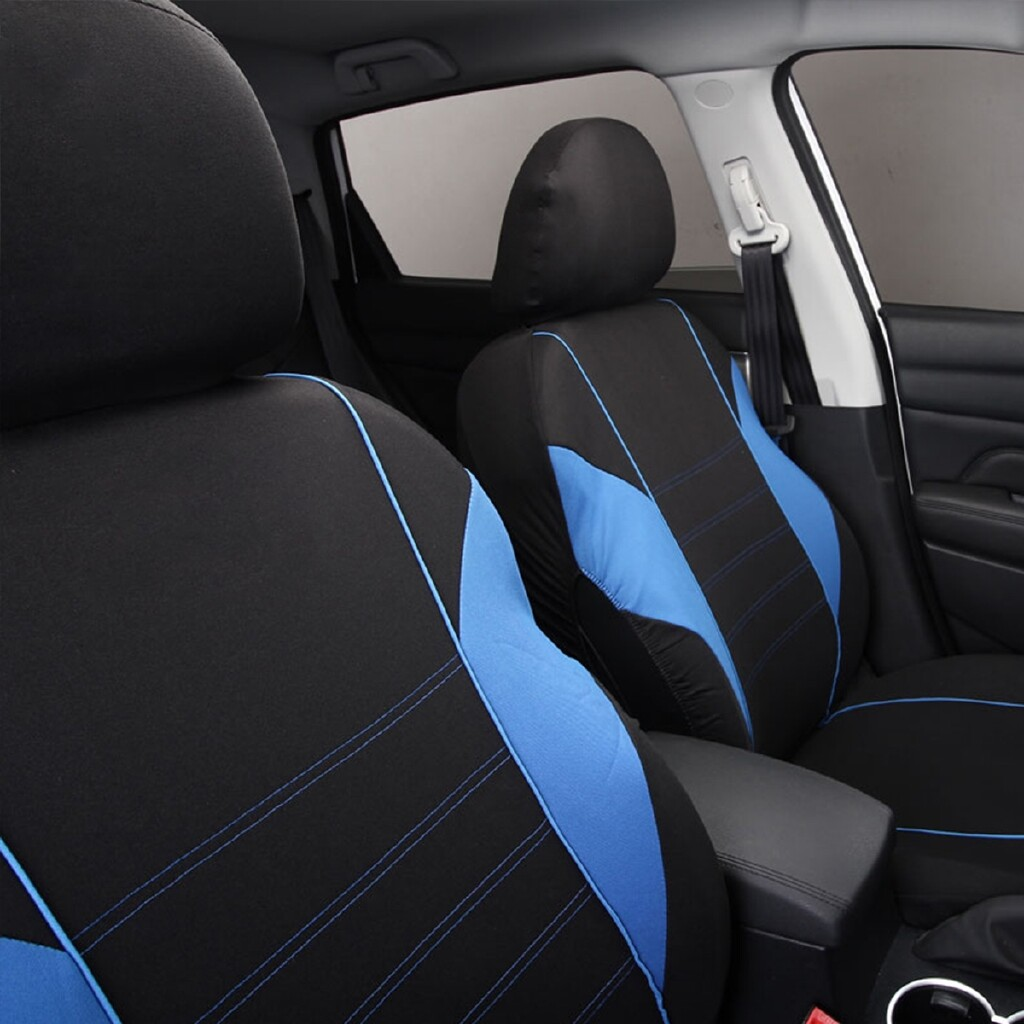 Moto Accessories - Y Shape Universal Car Auto Blue Cover Seat Protector Cushion Front & Rear Cover - Motorcycles, Parts