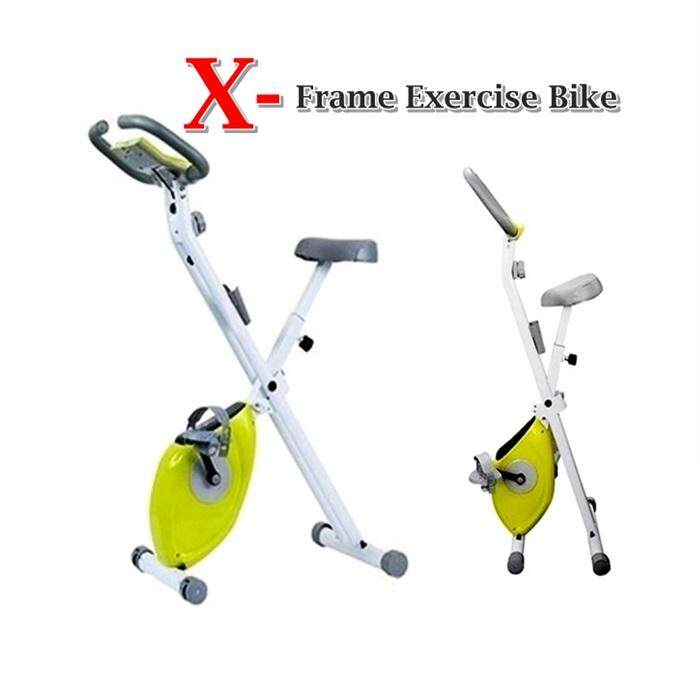 Magnetic Folding Exercise X-Bike, Folding X-Frame Cycle Exercise Bike ( Can Not Be Used Pos Domestic )