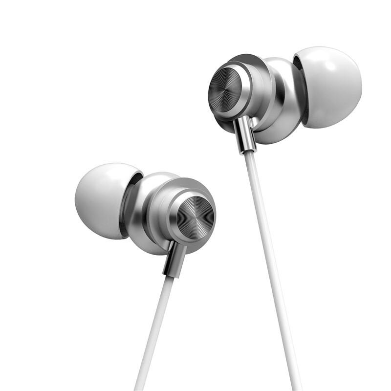 On-Ear Headphones - X56M Type-c Metal Wired Control In-ear Earphone Noise Cancelling Waterproof - ROSE GOLD / BLUE / SILVER