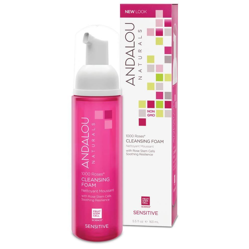 Andalou Naturals, 1000 Roses Cleansing Foam, Sensitive (163 ml)