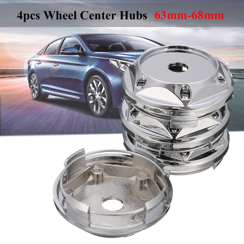 Tyres & Wheels - 4 PIECE(s) 63mm 68mm Alloy Wheel Center Hub Cap Cover For VW BK League Racing Slot Mag - Car Replacement Parts