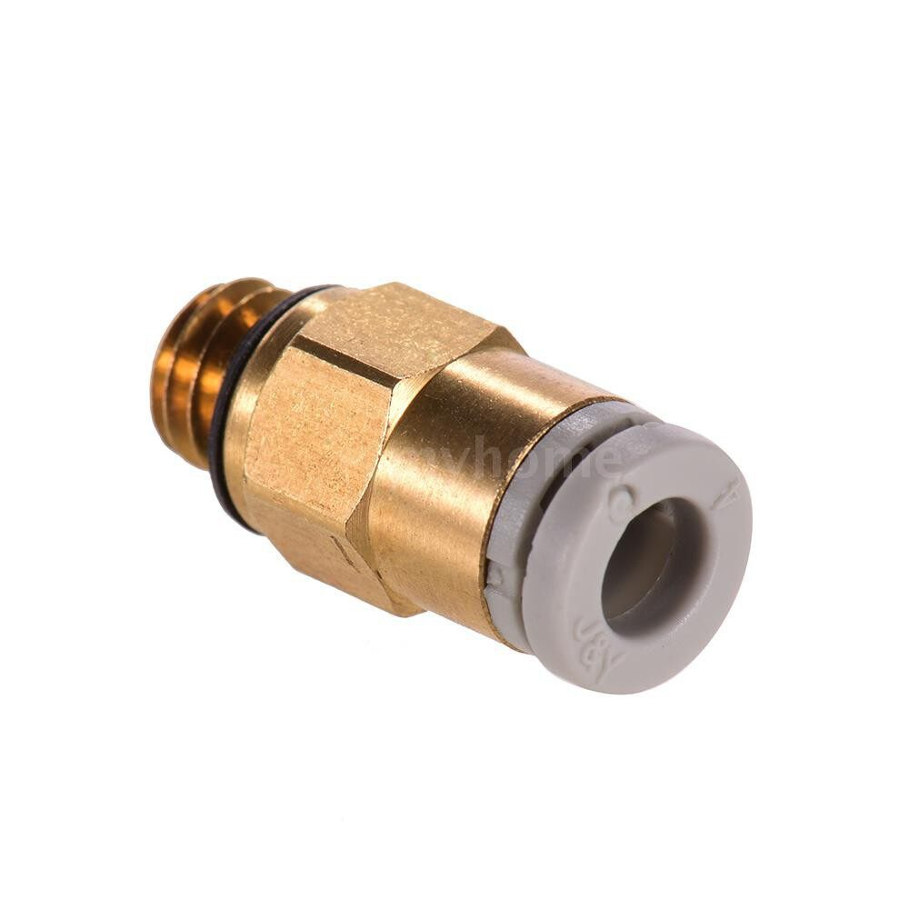 Printers & Projectors - Creality 3D PC4-M6 Pneumatic Air Straight Quick Fitting Connector for CR-10 Series / Ender-3 3D - GOLD