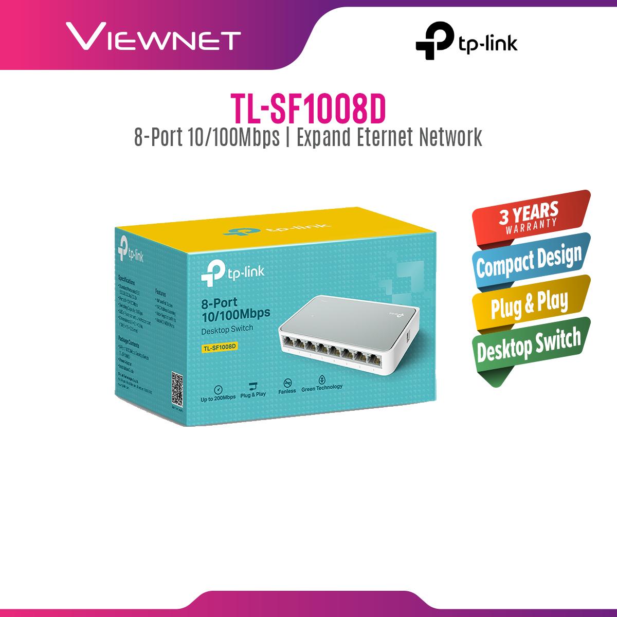 TP-LINK TL-SF1008D 8-Port 10/100Mbps Desktop Network Switch