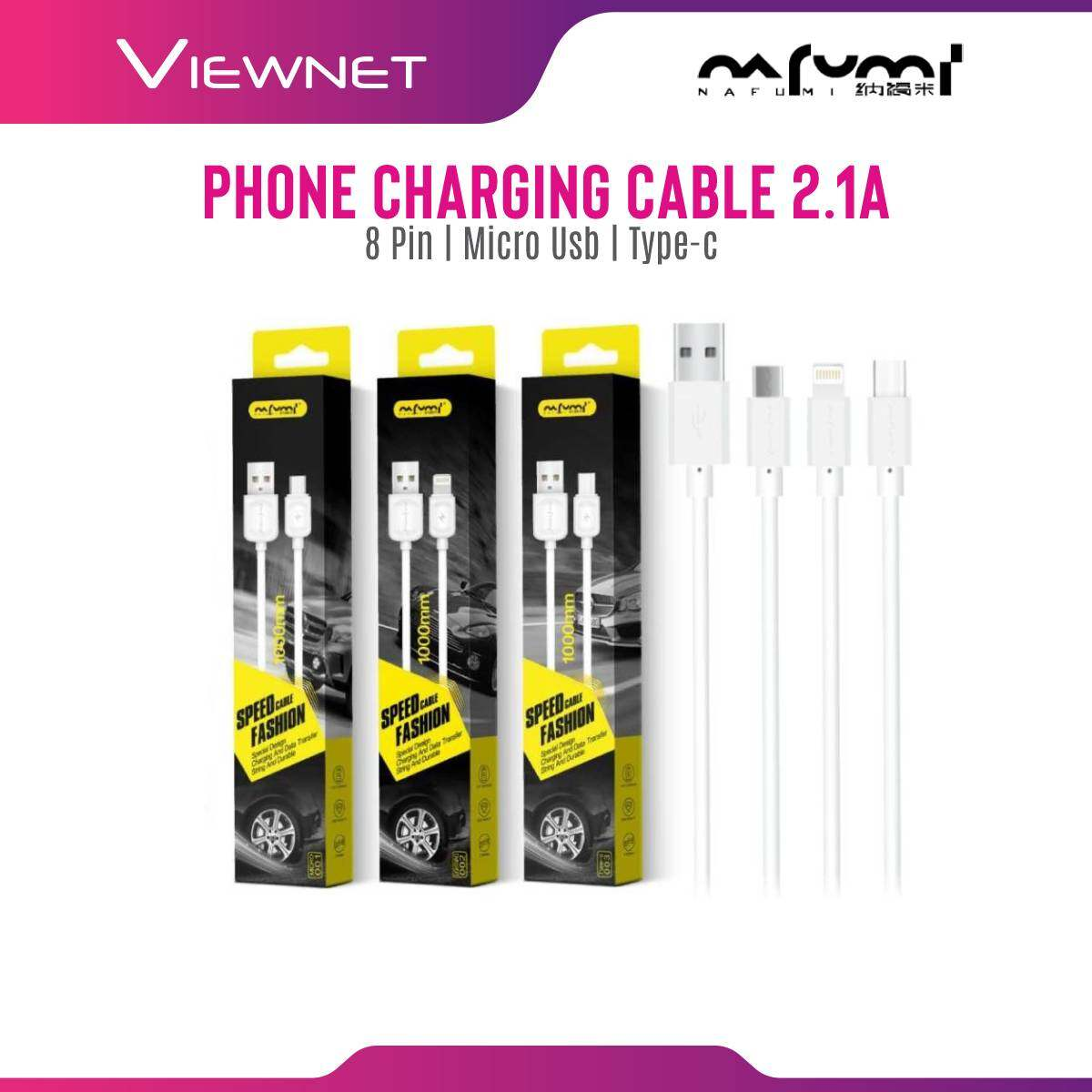 Nafumi Micro USB / Apple 8 Pin / Type-C Fast Charging 2.1A 1000mm Cable (001/002/003)