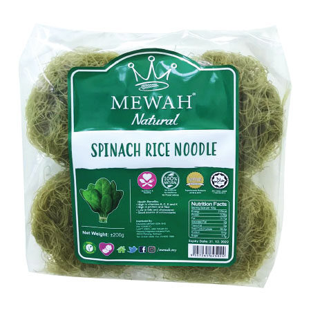 Mewah Natural Spinach Rice Noodle