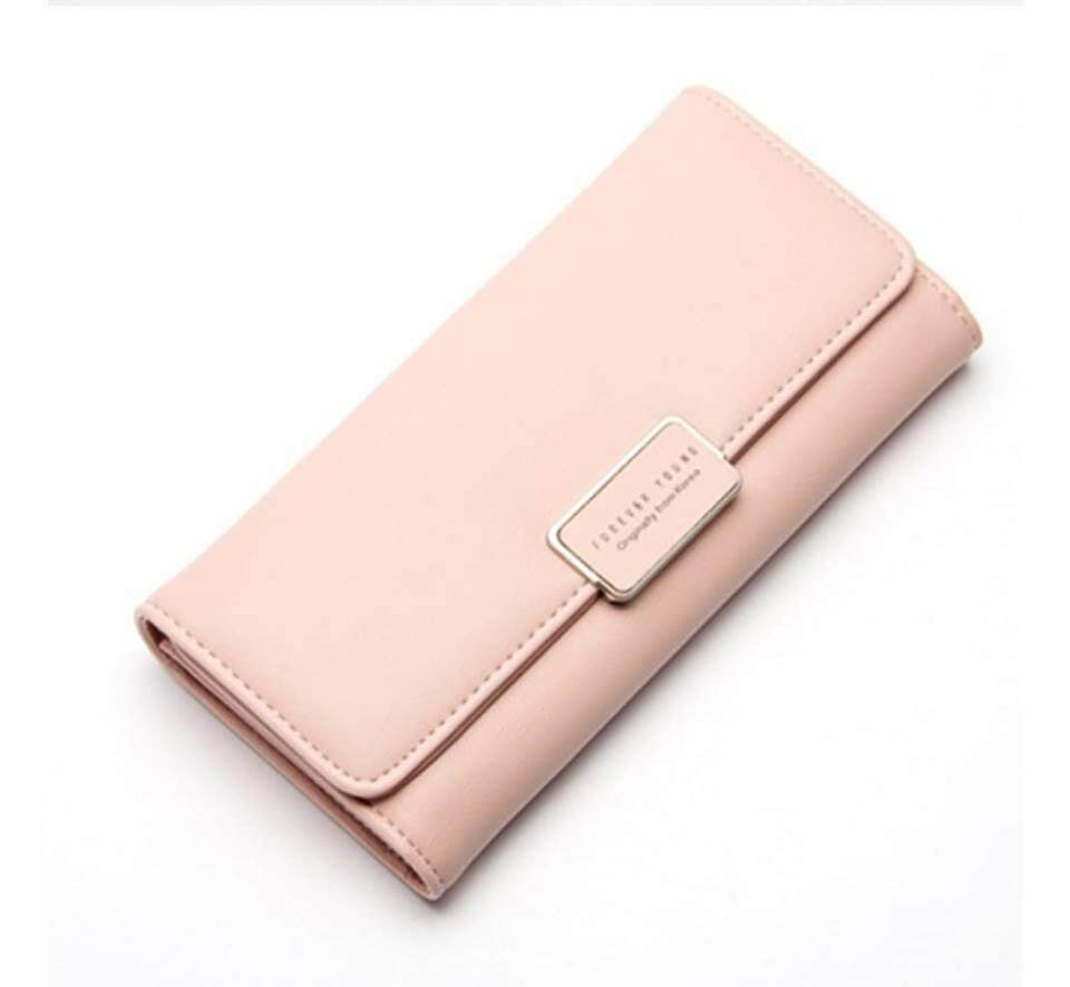 KOREA FOREVER YOUNG FEMALE ELEGANT SIMPLE ID CARD HOLDER WALLET COIN LADIES PURSES
