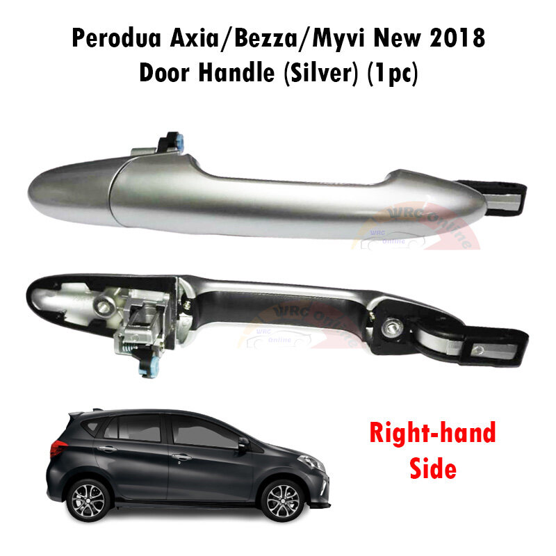 Perodua Axia / Bezza / Myvi New 2018 Door Handle (Silver) (Right-hand Side)