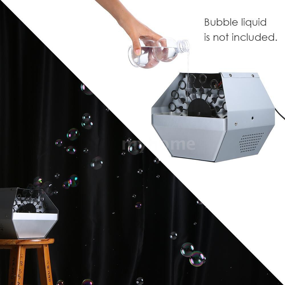 Lighting - AC 50-60Hz PORTABLE Bubble Machine Maker Automatic Bubble Blower Toys for Kids Plug-in with - Home & Living