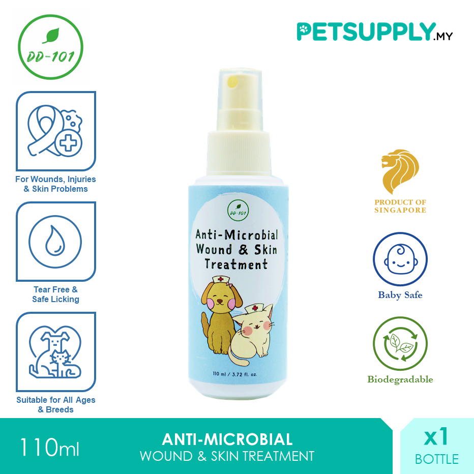 DD101 Anti-Microbial Wound Skin Treatment Spray 110ml [Perawatan Luka Cat Dog Kucing Anjing - Petsupply.my]