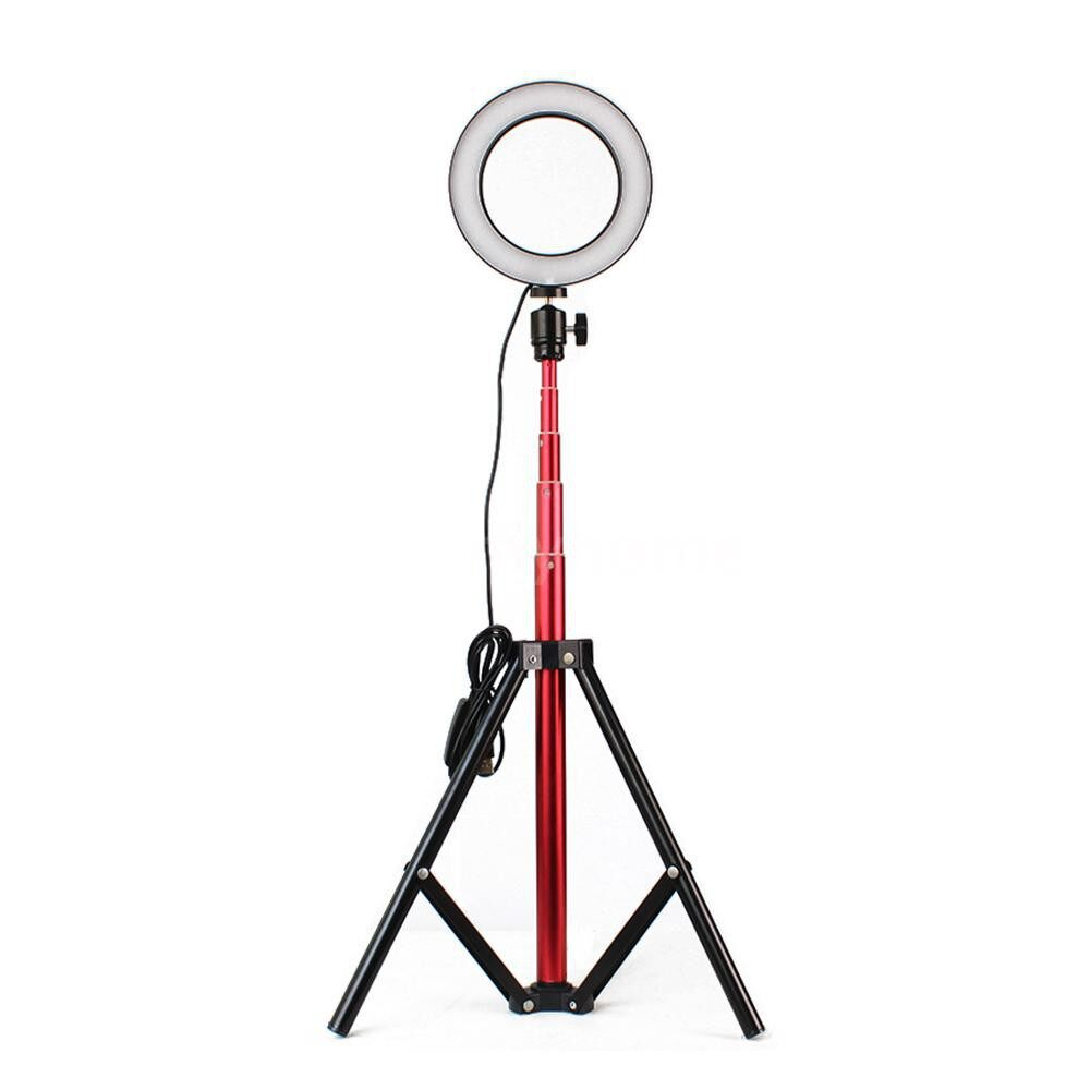 Lighting - DC5V 7W LED Light Round Selfie Camera Lamp with Telescopic Tripod USB Powered Operated 10 Levels - GOLD & 26CM / GOLD & 20CM / GOLD & 16CM / RED & 26CM / RED & 20CM / RED & 16CM / BLACK & 26CM / BLACK & 20CM / BLACK & 16CM / PINK & 26CM /