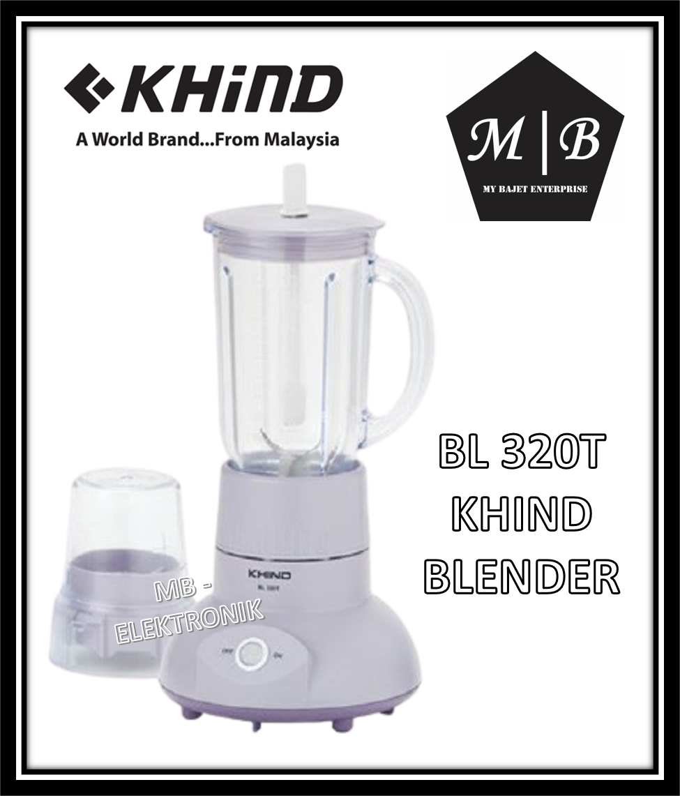 KHIND BLENDER WITH DRY MILL 1.0L BL320T