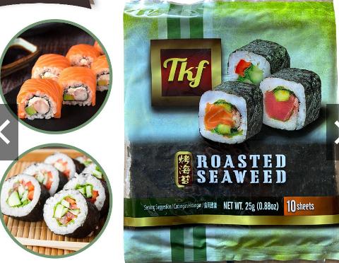 Halal Yaki Sushi Nori Roasted Seaweed 28g - 1 pkt x 10 pcs