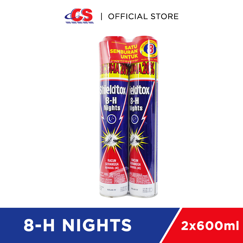 SHIELDTOX 8-H Night Twin Pack 2x525ml