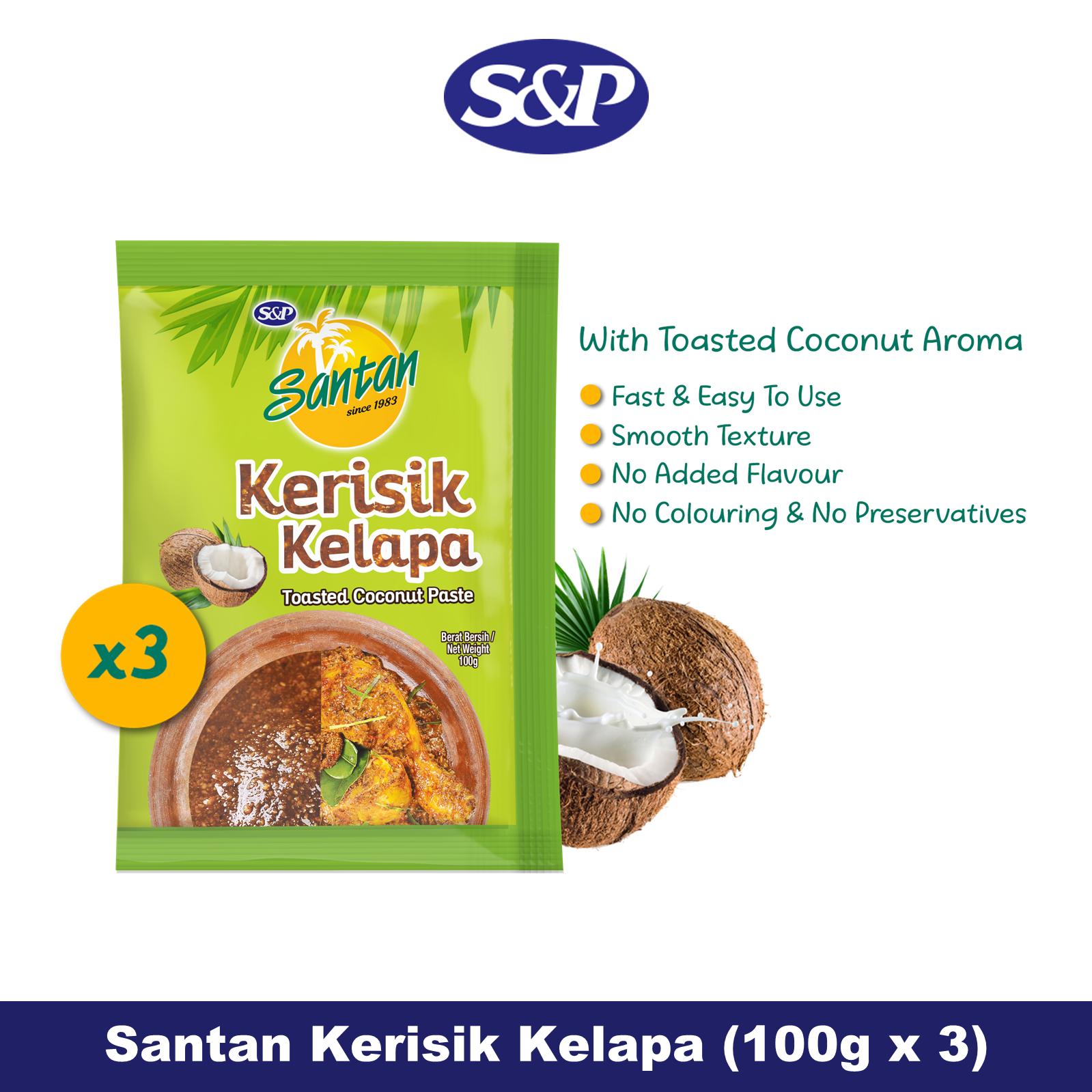 S&P Santan Coconut Paste Kerisik Kelapa (100g x12)