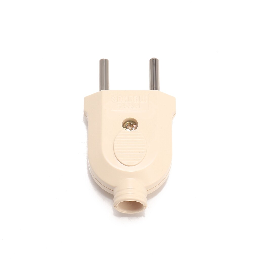 Projectors - Loskii HA-17 EU Wire Plug Residential Round Pins Plug 10-Amp 250-Volt Two Pins Plug for DIY