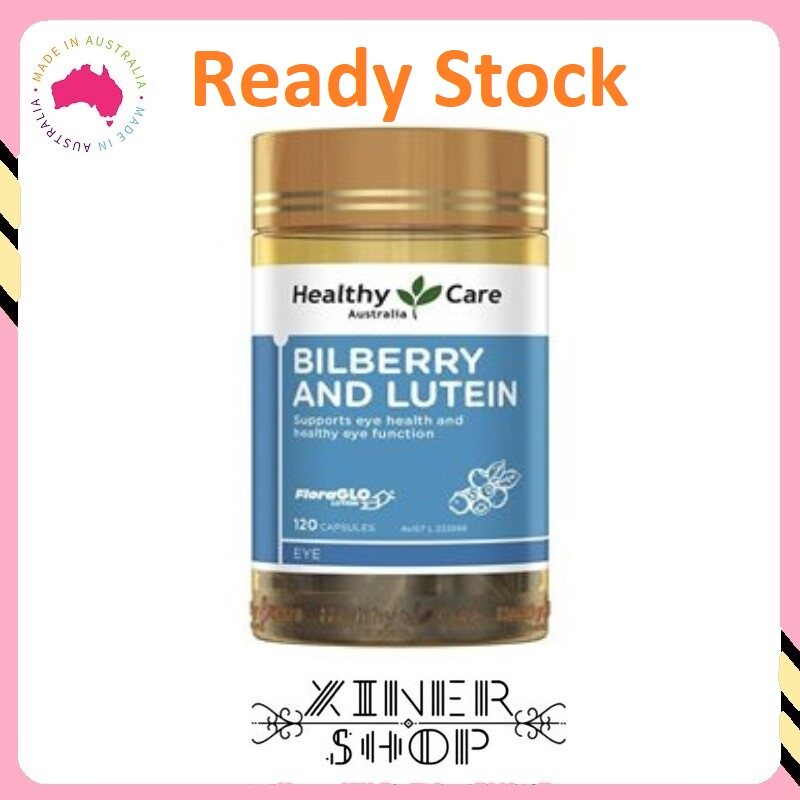 [Ready Stock EXP Date : 08/2022] Healthy Care Bilberry & Lutein ( 120 Capsules )(Made In Australia )