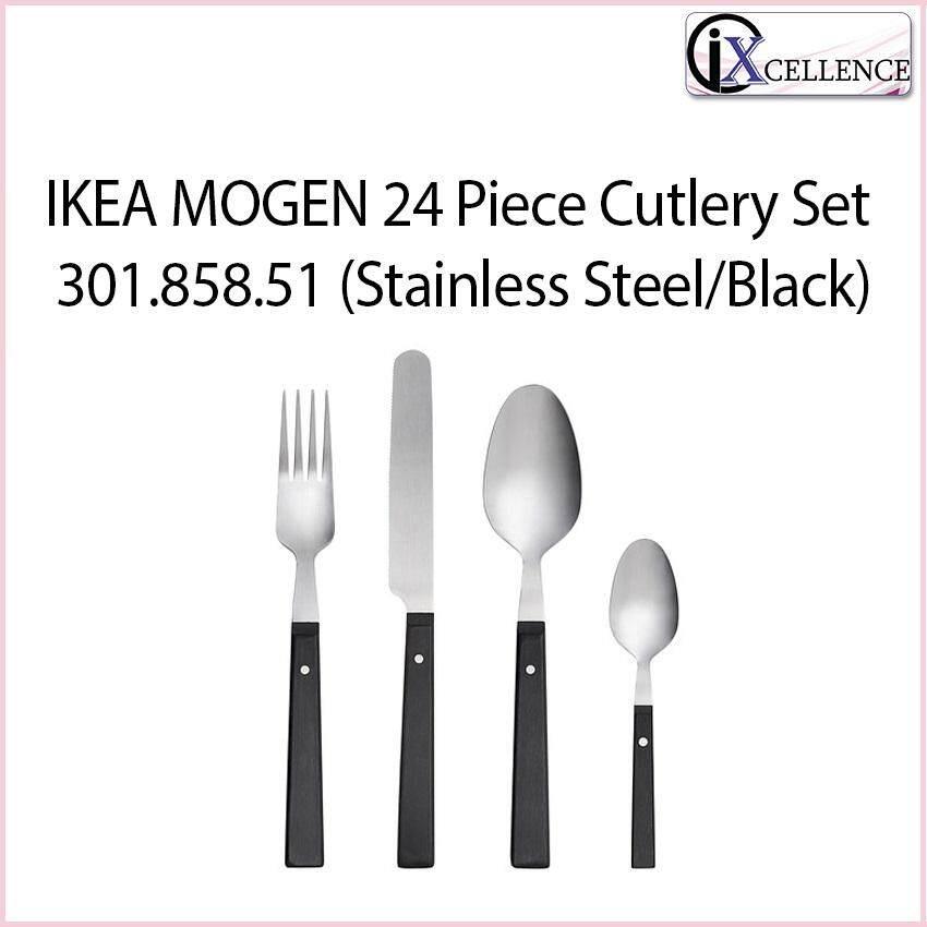 [IX] MOGEN 24-Piece Cutlery Set 301.858.51 (Stainless Steel/Black)