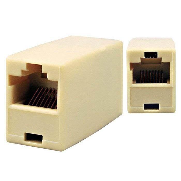 RJ45 LAN Network Straight Coupler 8P8C Extender Joint Converter Plug Adapter