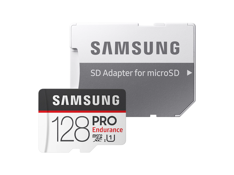 Samsung Pro Endurance Micro SD with SD Adapter, 4k Record Support, Class 10, Temperature Proof