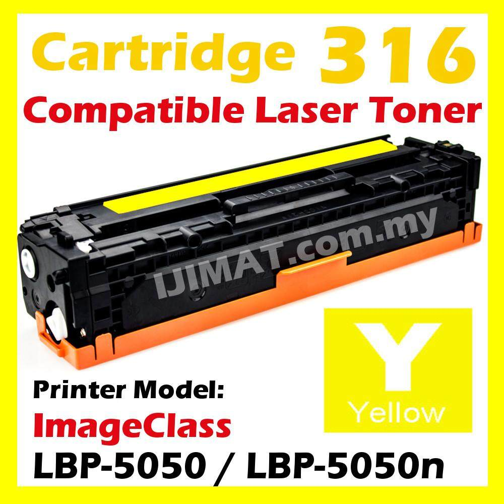 YELLOW Compatible Laser Toner Cartridge Canon 316 / Cartridge 316 / CRG316 For Canon LBP-5050 / LBP-5050n / LBP5050 / LBP5050n Printer Ink