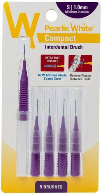 PEARLIE WHITE COMPACT INTERDENTAL BRUSH S 1MM 5S