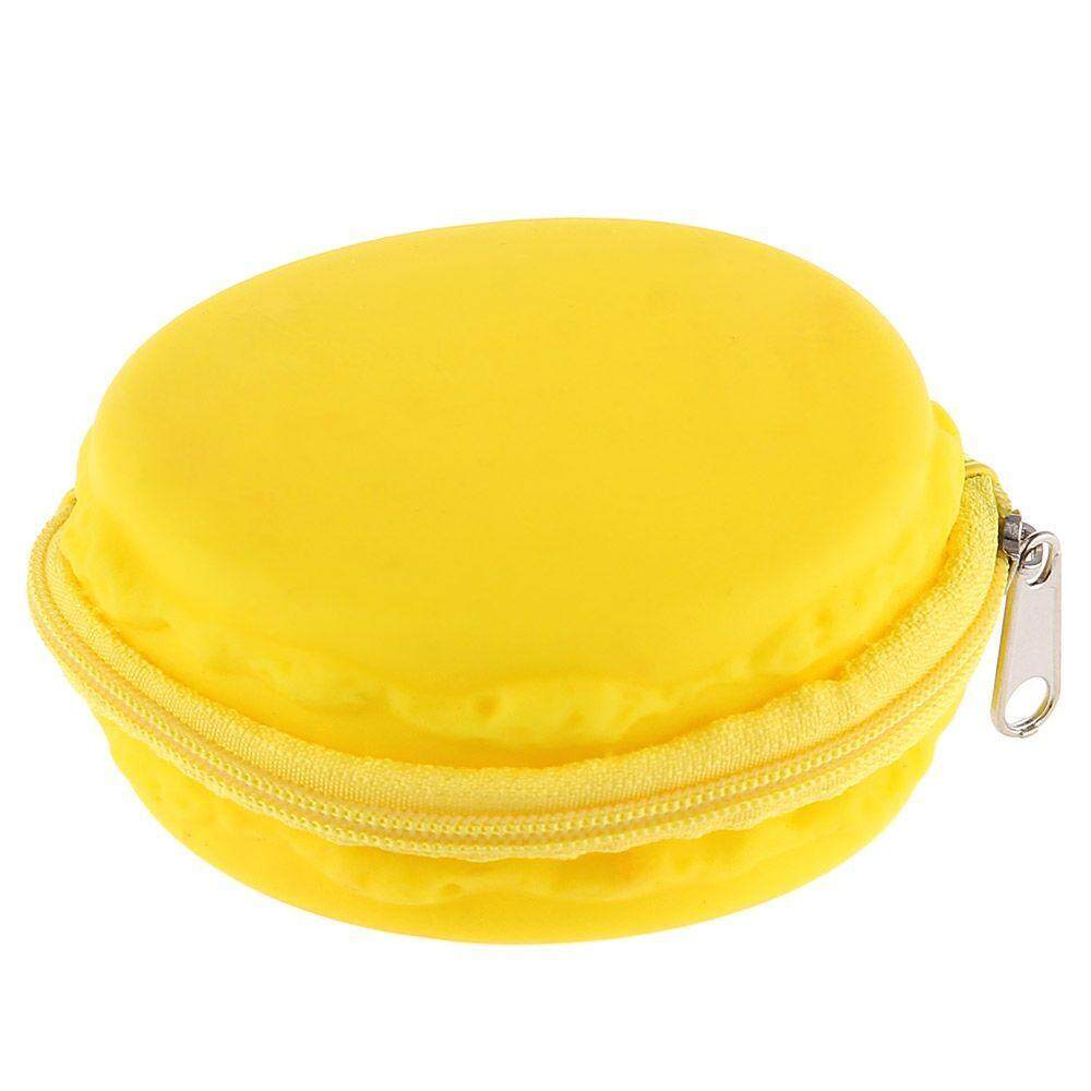 ROUND SOLID ZIPPER DESIGN UNISEX CHANGE PURSE (YELLOW)
