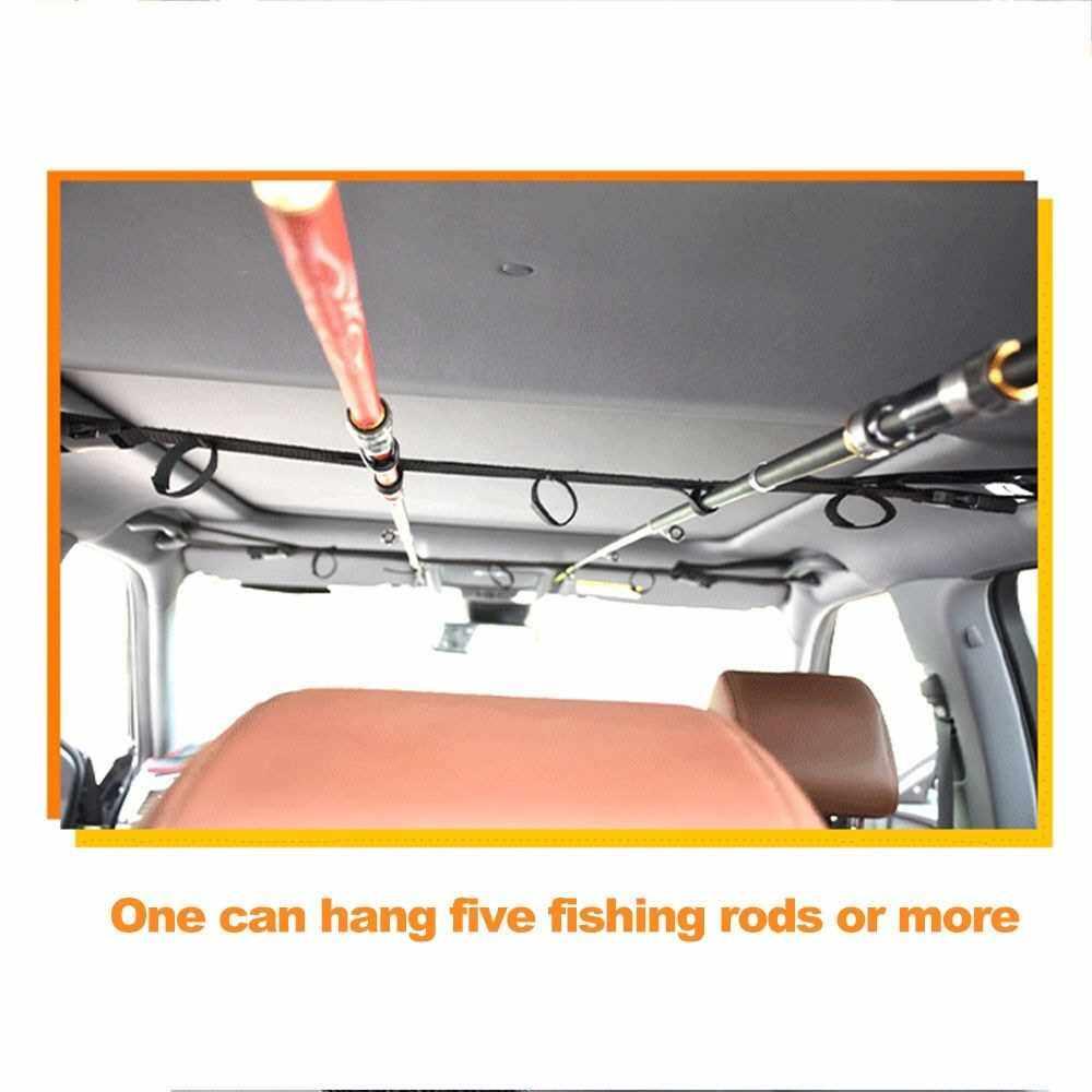 Best Selling 2PCS SUV/MVP/RV Vehicle-Mounted Fishing Rod Rack Fishing Rod Support Vehicle-Mounted Fixed Fishing Rod Strap (Black)