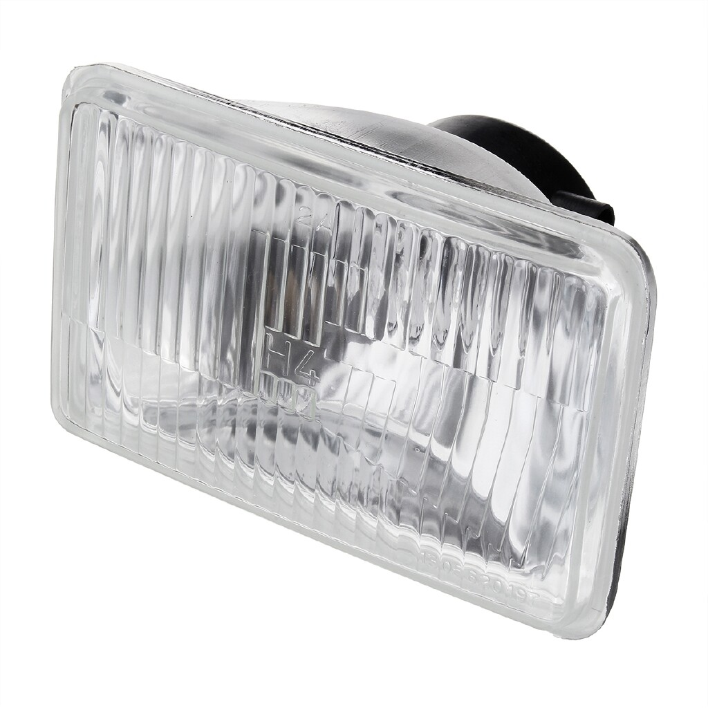 Car Lights - Rectangle Headlight Upgrade Kit 60/55W W/ H4 Halogen Bulb Clear For Hilux Ute - Replacement Parts