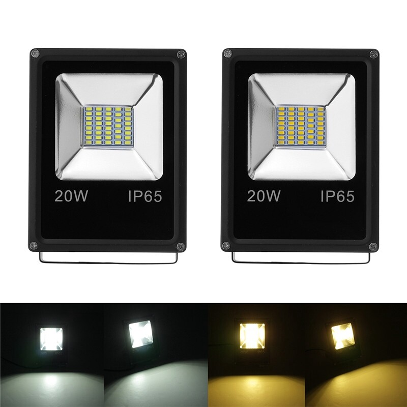 Outdoor Lighting - 10/20W LED Flood Light Spotlights White Outdoor Garden Waterproof Lamp - WARM WHITE / PURE WHITE