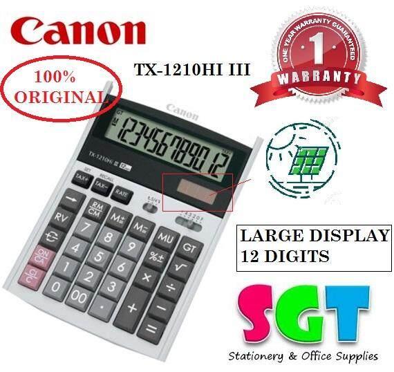Canon Calculator 12 Digits TX-1210HI III