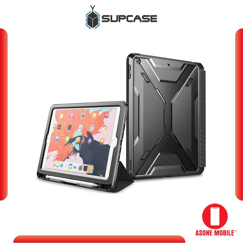 Original SUPCASE iPad 9.7 inch Case (2017 & 2018) Unicorn Beetle Trifold Folio Cover - Black